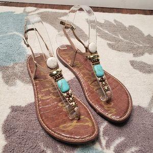 Sam Edelman Faux Stone Sandals Size 8